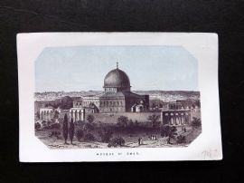 Thomson Holy Land 1863 Antique Print. Mosque of Omar